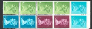 GB FB1B 50p booklet March 76 with 6½p left bands, quite good perfs