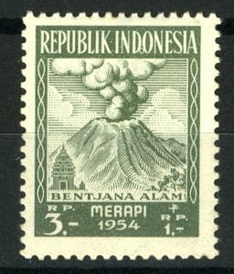 Indonesia 1954 Disaster Fund 3r + 1r  SG 6749  Unmounted Mint Stamp
