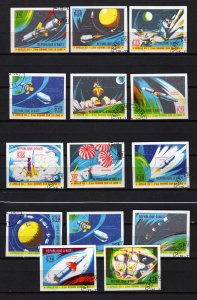 Lot Collection Haiti Imperf Apollo Space Stamps Used CTO