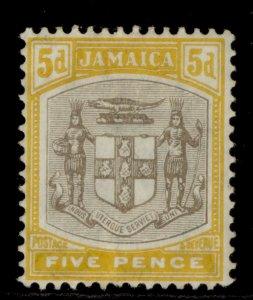 JAMAICA EDVII SG43, 5d grey and orange-yellow, M MINT. Cat £65.