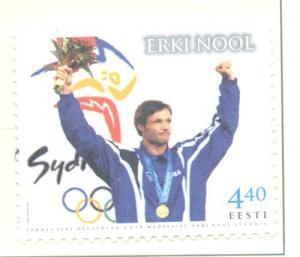 Estonia Sc 407 2001 Nool Olympic Winner stamp mint NH