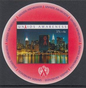 UN New York B1 AIDS Souvenir Sheet MNH VF