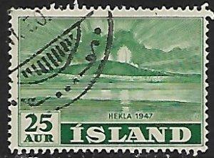 Iceland # 247 - Hekla Vulcano Erruption - used....{GBl)