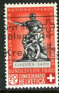 SWITZERLAND B102 USED SCV $1.60 BIN $.75 CALVEN