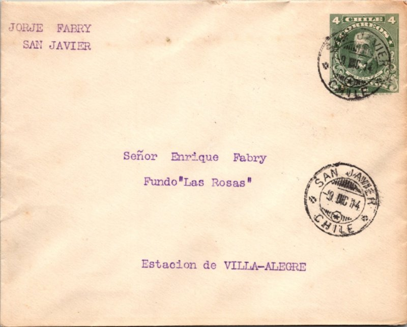 Chile, Postal Stationary