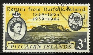 Pitcairn Islands 1961 Scott# 32 Used