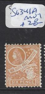 NEW SOUTH WALES (PP1212B)  QV  6D SG 341A   MOG