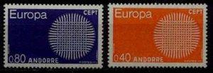 Andorra Fr. 196-97 MNH Europa CEPT-70 SCV21