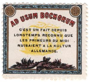 (I.B) France Cinderella : Delandre Great War Patriotic Stamp (Culture)