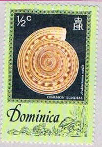 Dominica Sea shell half cent - pickastamp (AP104002)