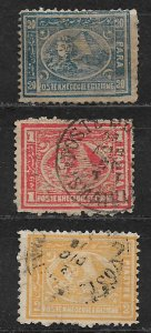 COLLECTION LOT OF 3 EGYPT 1874 STAMPS