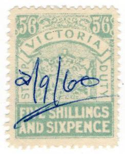 (I.B) Australia - Victoria Revenue : Stamp Duty 5/6d
