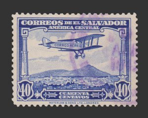 EL SALVADOR  STAMP 1930 SCOTT # C14. USED