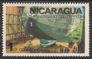 Nicaragua, Sc 1045, MNH, 1977, Zeppelin in Hanger