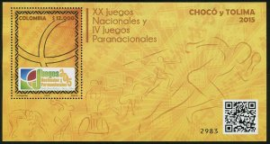 HERRICKSTAMP NEW ISSUES COLOMBIA National & Paranational Games 2015 S/S