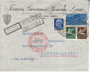 Covers Zeppelin 1935 Airship Italy Argentina LZ 127 South America Naples Airmail