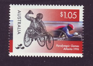J23762 JLstamps 1996 australia hv of set mnh #1542 wheelchair sports