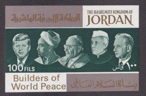 Jordan # 534J, John F. Kennedy & Others, Souvenir Sheet, NH, 1/2 Cat.