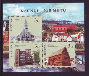 Lithuania Sc 937 2011 Kaunus 650 Yrs stamp sheet mint NH