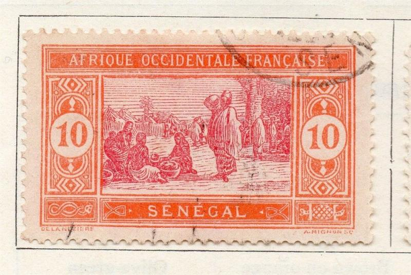 Senegal 1914 Early Issue Fine Used 10c. 008049