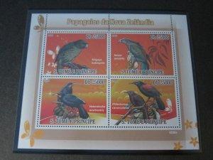 St. Thomas & Prince Islands 2009 Sc 1971 Bird set MNH