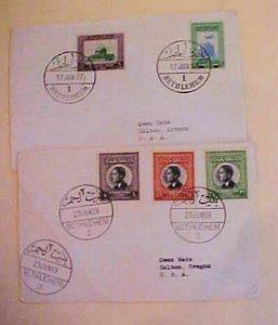 JORDAN  2 DIFF. BETHLEHEM 1959 COVERS TO USA