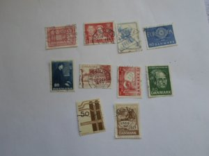 DENMARK STAMPS, LOT OF 10 STAMPS # 7
