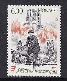 Monaco  #1850   MNH  1993   fire fighting and rescue