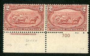 US Stamps # 286 FVF OG LH