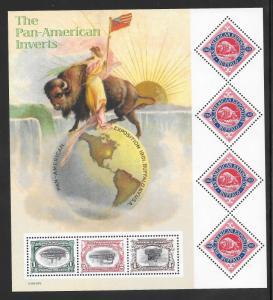 #3505 MNH  PAN AMERICAN INVERTS Sheet (((Stock Photo)))