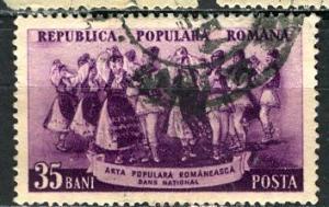 Romania 1953: Sc. # 929A: O/Used Single Stamp