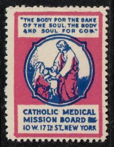 US STAMP CATHOLIC MEDICAL SEAL MH/OG stamp #1
