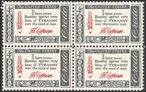 1141 Mint,OG,NH... Block of 4... SCV $1.00