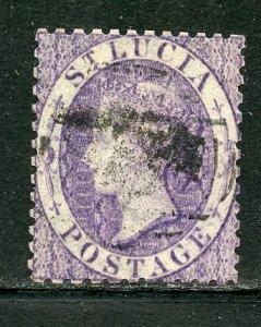 Saint Lucia # 9, Used. CV $ 42.50
