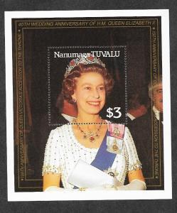 Tuvalu Nanumaga 83 Mint NH Souvenir Sheet 40th Wedding!