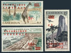 Cameroun C38-C40,MNH.Michel 341-343-II. Giraffes,Port de Douala,Piton d Humsiki.