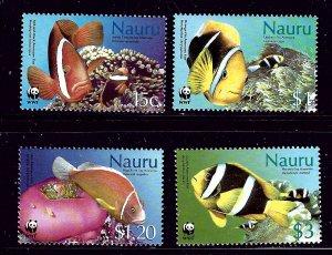 Nauru 514-17 MNH 2003 Fish (W.W.F.)