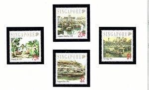 Singapore 617-20 MNH 1992 Paintings         (KA)