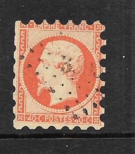 FRANCE 1861  40c   NAPOLEON  ROUL 7    FU    SG 84