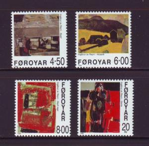 Faroe Islands Sc 364-7 1999 Paintings stamp set mint NH