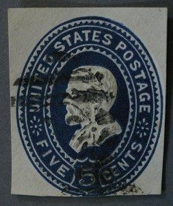 United States #U330 5 Cent Grant Cut Square Used