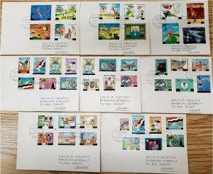 HERRICKSTAMP YEMEN Rare 1993 Ovpts #591-C157 (72 Stamps) on Covers