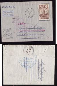 Canada #11208-re-routed UK PTS,PTS AEF-Edmondston,NB-Mr