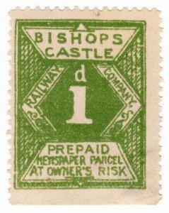 (I.B) Bishop's Castle Railway : Newspaper Parcel 1d