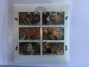 Batum   Tigers in the Wild stamp sheet R27721
