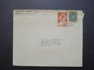 Netherlands Antilles 1939 Commercial Cover to Detroit - Z7194