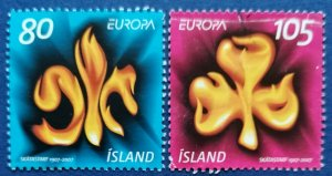 Iceland Scout Emblems Scott # 1110-1 Used (I1105)