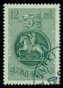 FINLAND #279 (363) 12mk Post Rider, used, VF, Scott $20.00