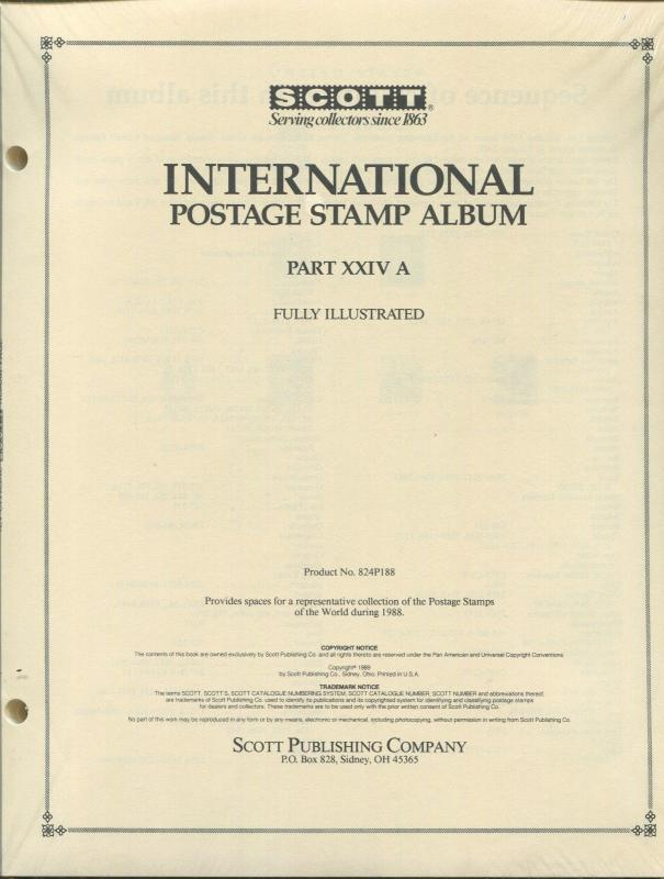 Scott International Postage Stamp Album #24A 1988 United States Korea 358 PAGES