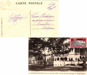 Togo 2c Coconut Grove 1928 Lome, Togo PPC (Missions Africaines, La Mission de...